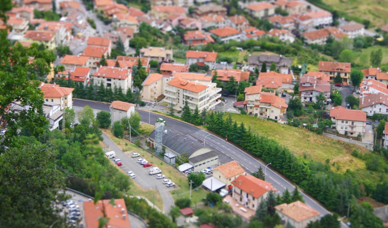 картинка, город, дома, машины, деревя, toy,