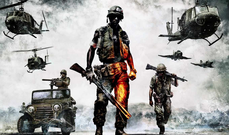 battlefield, плохой, company, солдат, vietnam, янв, вьетнаме, игры,
