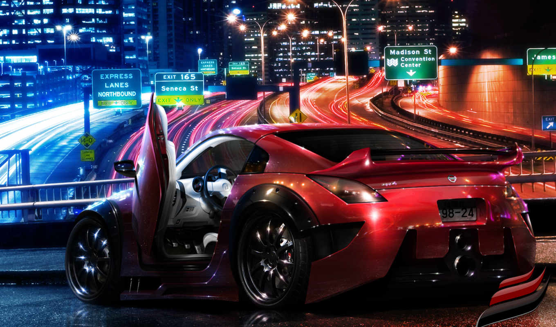 nissan, авто, картинка, город, города,