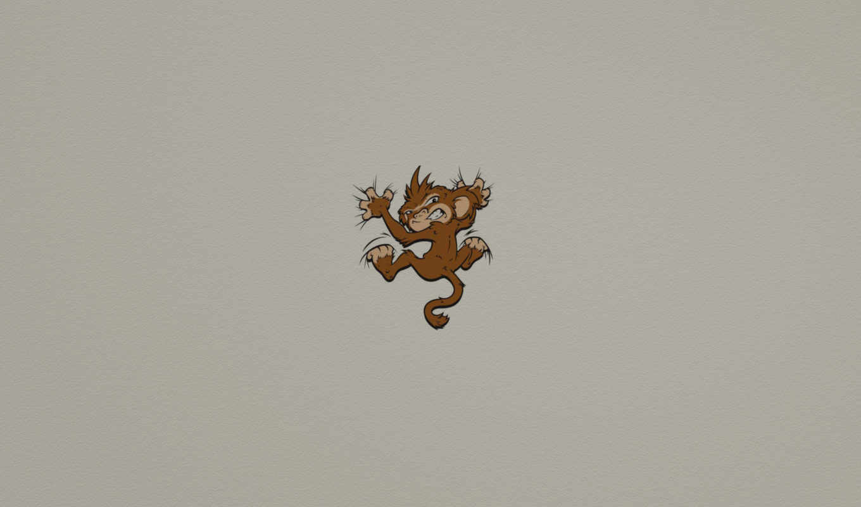 обезьяна, monkey, минимализм, хватка, злая, набор, нояб, обоев, креативных, стиле, количество, seeman, модель, мыши,