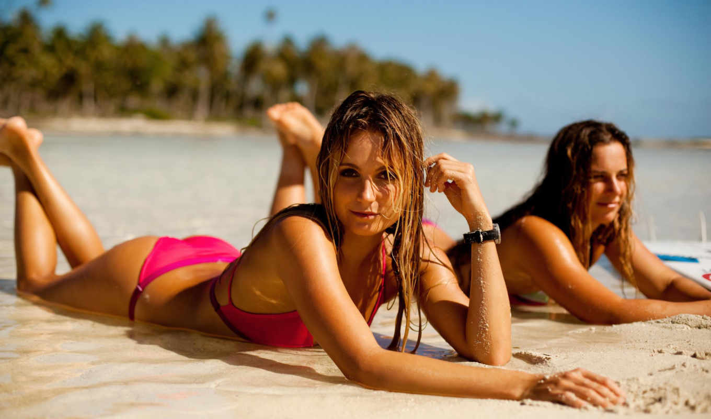 alana, пляж, blanchard, картинка, watch, море,