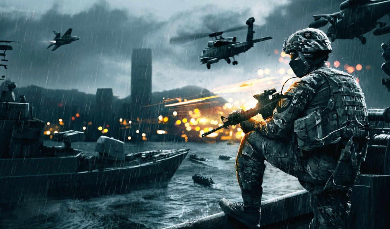 battlefield, вертолеты, солдат, истребитель,