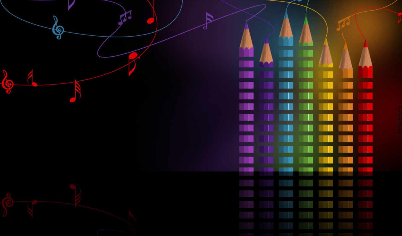 equalizer, карандаши, разрешением, ноты, collector, качество, высоким, стиль, широкоформатные,