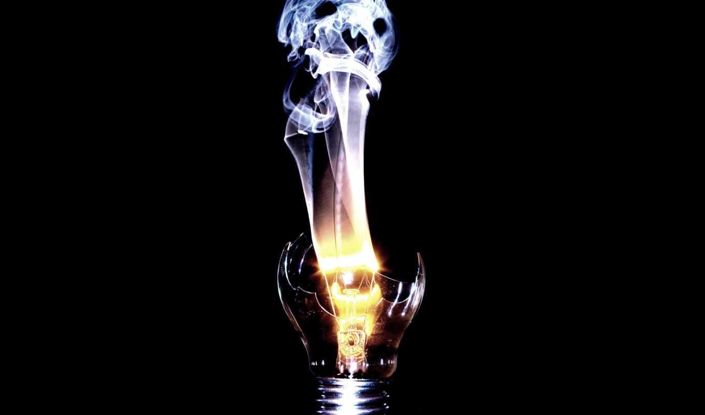лампочка, дух, спираль, wallpaper, череп, дым, разбитая, смерть, this, смотрите, light, spirit, черный,