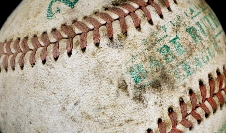 мяч, baseball, sports, провишка, надписи, изношеный, desktop,