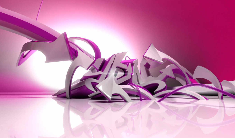 граффити, фиолетовые,