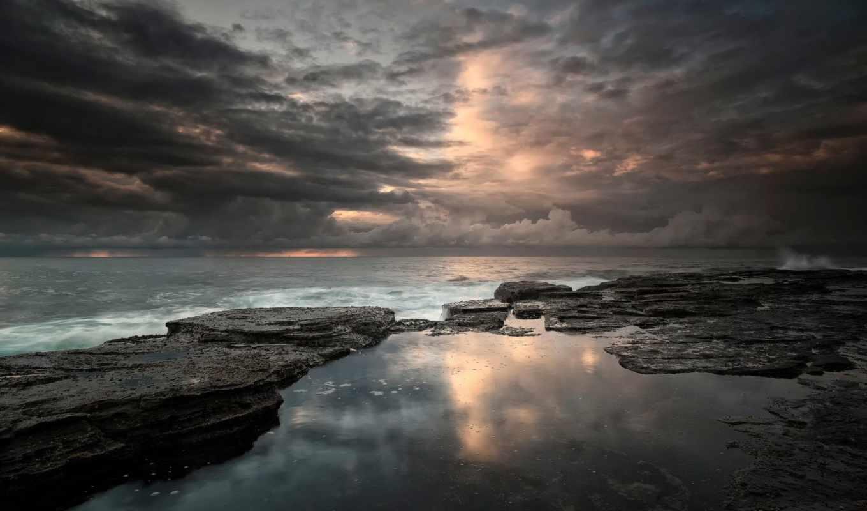 море, north, clouds, waves, narrabeen, природа, небо, queensland,
