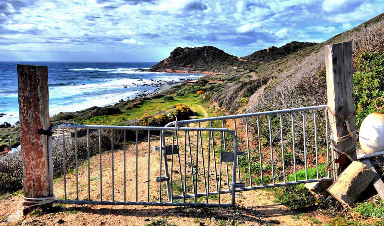 прибой, ворота, берег, ржавчина, nature, woodland, forest, смотрите, пляж, море,