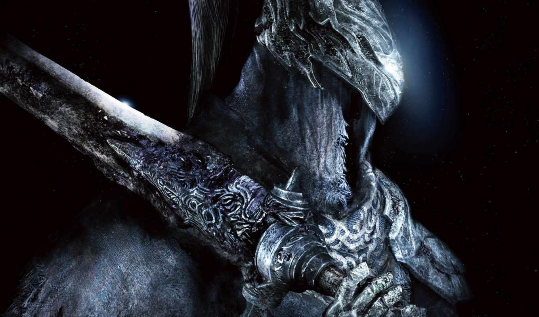 artorias, knight, dark, souls, нравится, работы, abyss, мне, games,