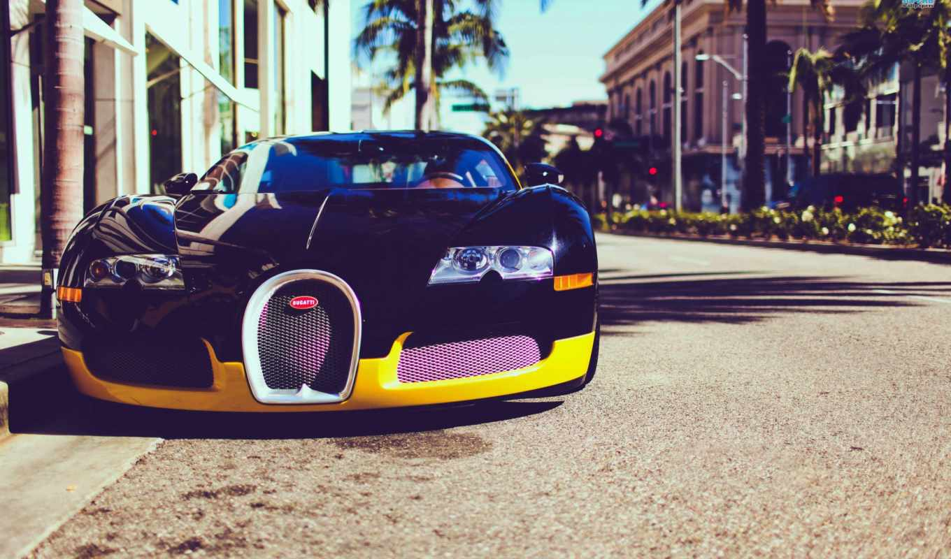 bugatti, angeles, los, california, veyron, город, usa,