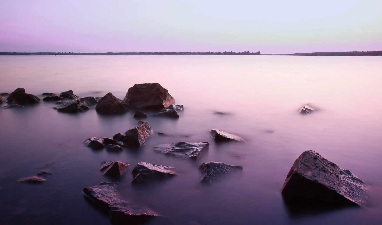 природа, скалы, water, утро, гладь, ко, photography, водная,