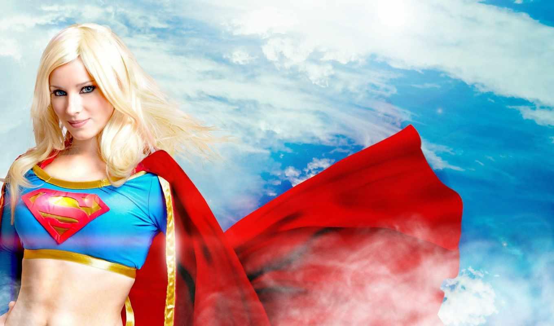 взгляд, ночь, герой, cosplay, gandex, супергёрл, супервумен, enji,