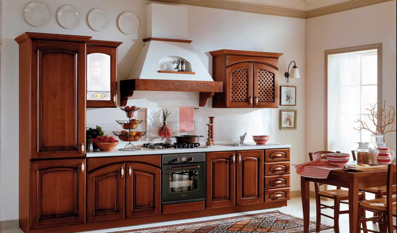 массива, кухни, заказать, мебель, фасад, дерева,