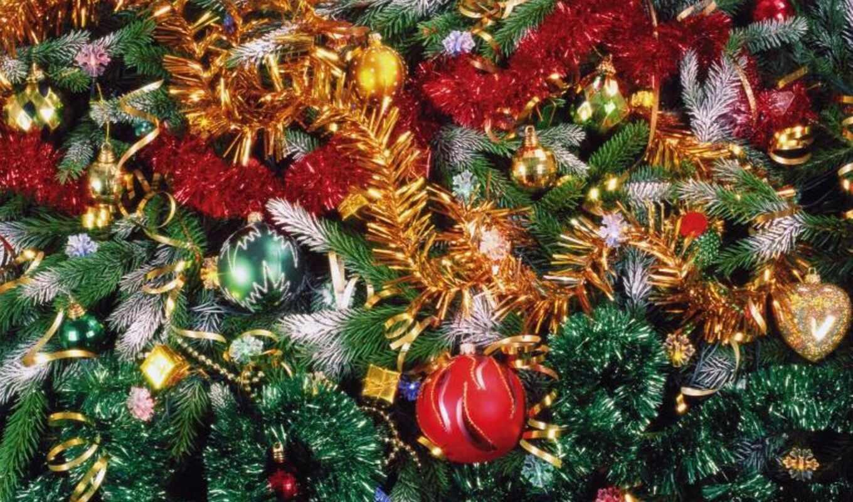 christmas, новый год, дерево, decoration, мишура, клипарт, postcard, праздник, clipart