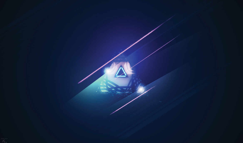 минимализм, тонна, синий, треуголдьник, треугольник, полосы, картинка, iphone,