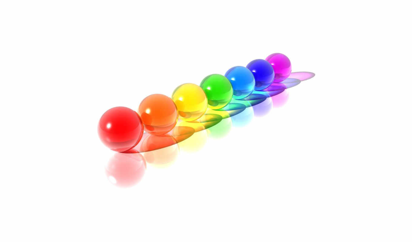 colorful, spheres,