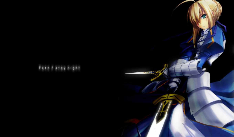 fate, stay, ночь, saber, anime, desktop,