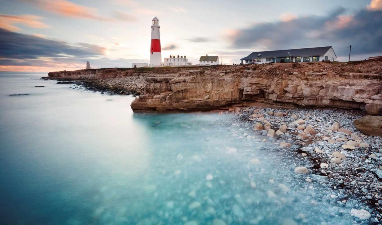 lighthouse, природа, море, берегу, tle, led, подборка, izumi, маяки, небо, берег,
