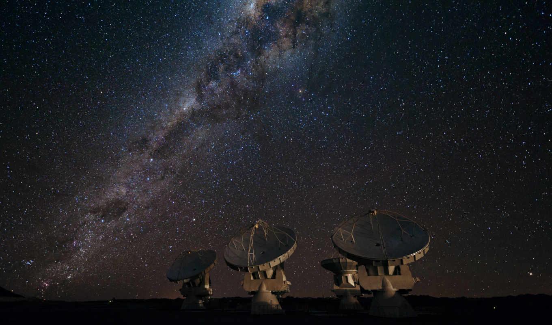 галактика, путь, млечный, звезды, радиотелескоп, картинка,