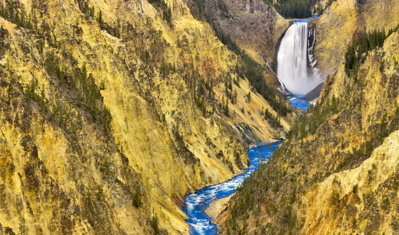 yellowstone, falls, парк, stock, lower, national,
