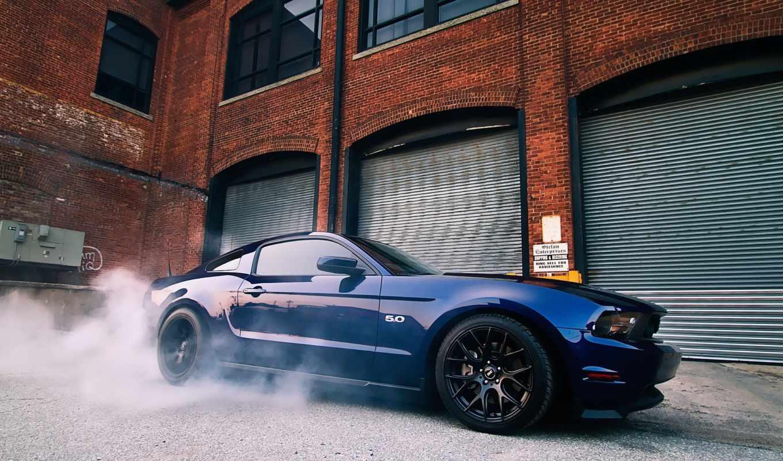mustang, ford, голубой ford,