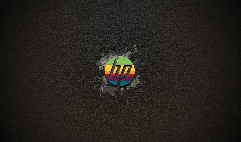 hp, logo, rainbow, grey