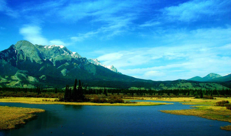 природа, blue, desktop,