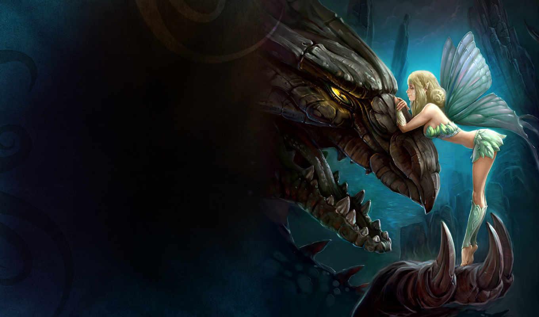 dragon, girl, картинку, anime, fairy, качестве, angel, фэнтези, кнопкой, мыши, фантастические, king, просмотра, от, монитора, чтобы, letitbit, dfiles, turbobit, изображение, fantasy,