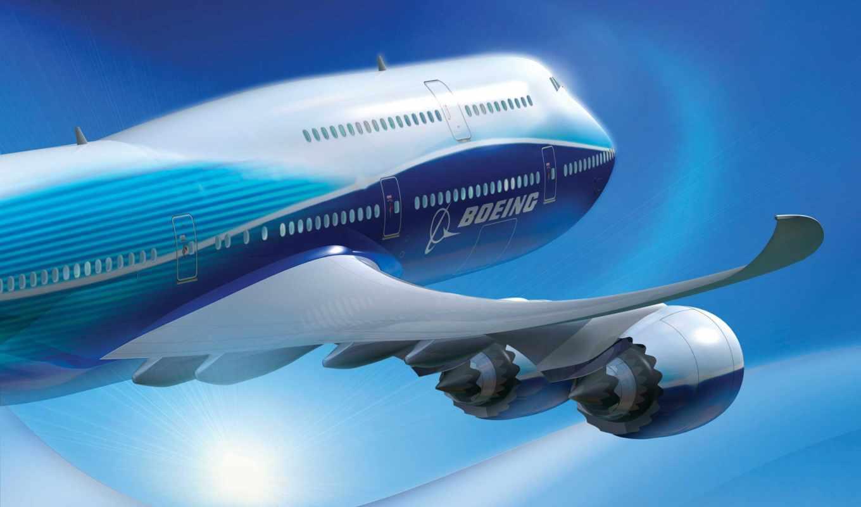 boeing, самолёт, авиалайнер, облака,