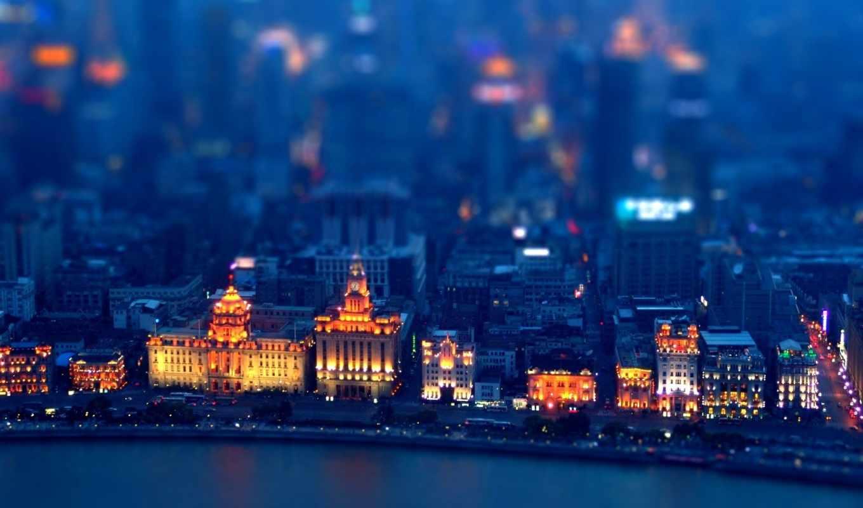 город, ночь, картинка, full, neighborhood, огни, дома,