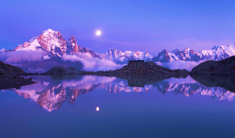 альпы, франция, горы,
