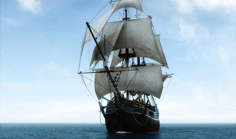 корабль, sailboat, красивые, море, ships, телефон, more, анимация, темы,