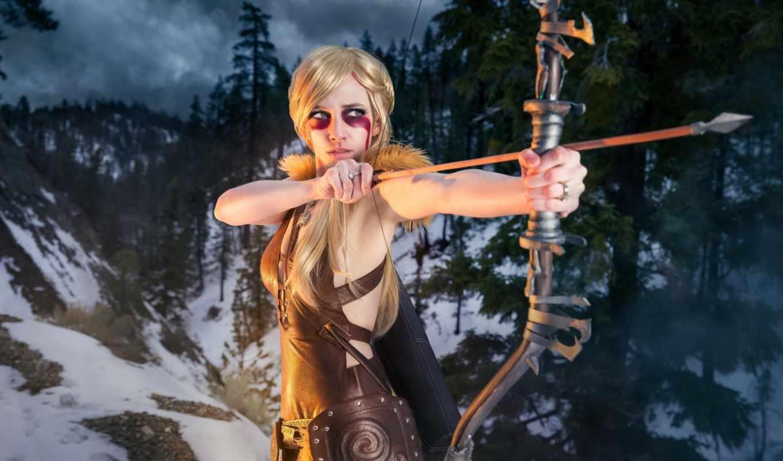 cosplay, fantasy, skyrim, archeage, товар, фэндомы, девушек, лук, стрелок,