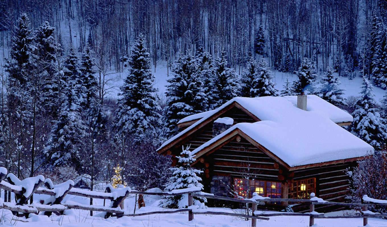 год, новый, зима, снег, desktop, елка, дом, xmas, click, download, chalet, christmas, background, resolution,