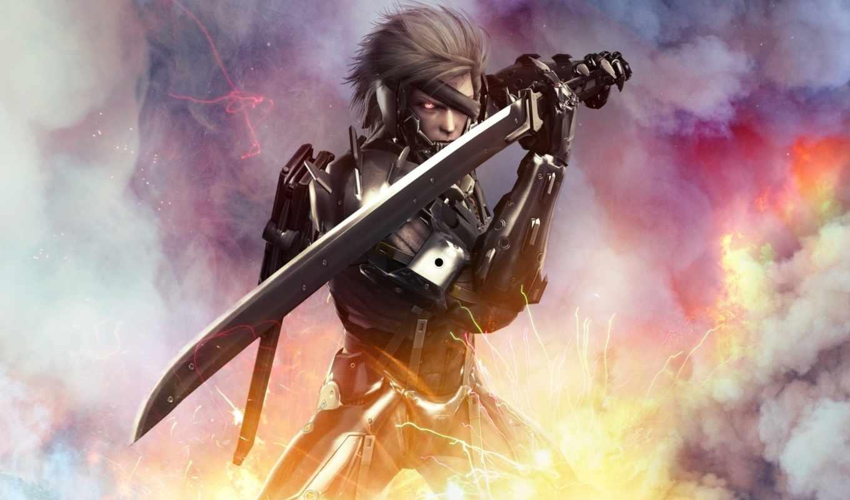 metal, rising, gear, revengeance, меч, raiden, ниндзя,