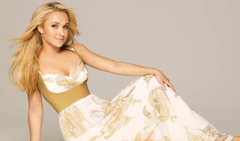 blonde, платье, hayden, panettiere, актриса, девушка, blue, одежда,