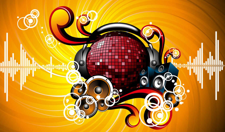 рисунок, динамики, шар, наушники, abstract, vector, avenю, песни, headphones, смотр, нестроевой,