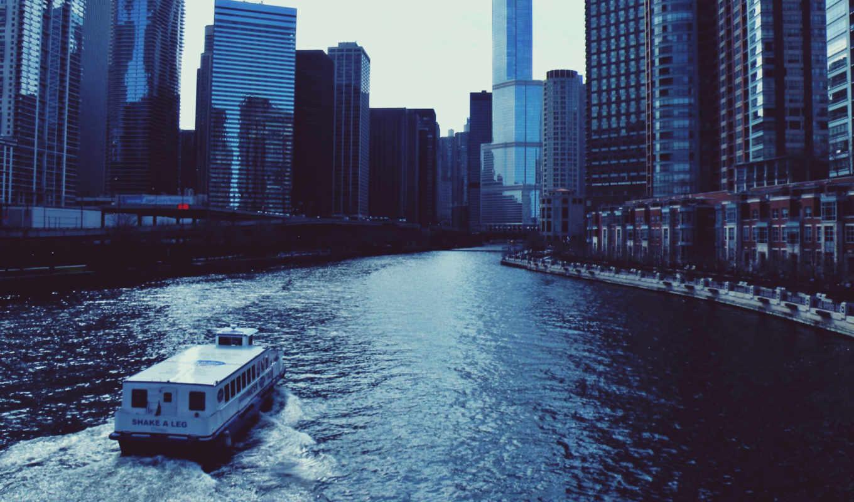 chicago, ро, иллинойс, usa, fata, центр, views,