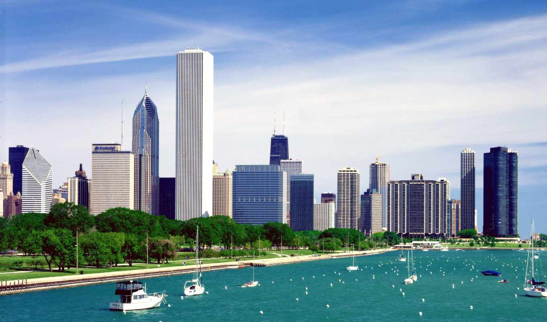 chicago, город, иллинойс, города,