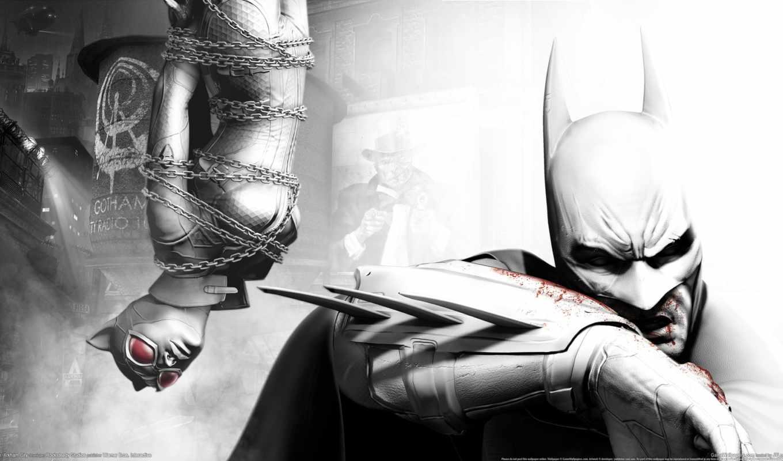 batman, arkham, город,