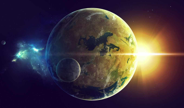cosmos, universe, назад, добавлено, обоях, star, land, planet,