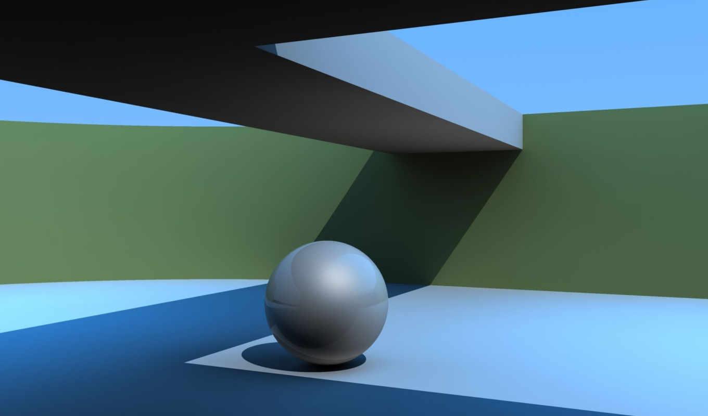 абстракция, графикой, трехмерной, шар, формы, фона,