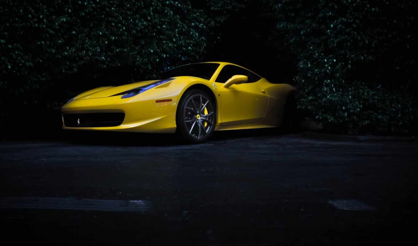 yellow, ferrari, iphone,