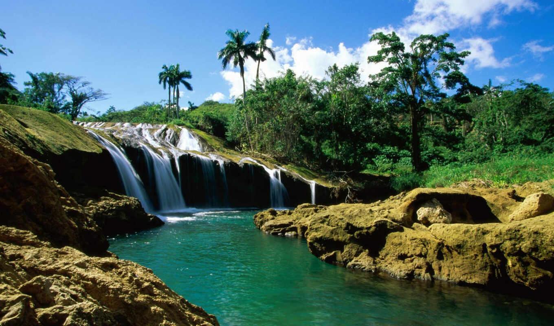 водопады, водопад, cuba,