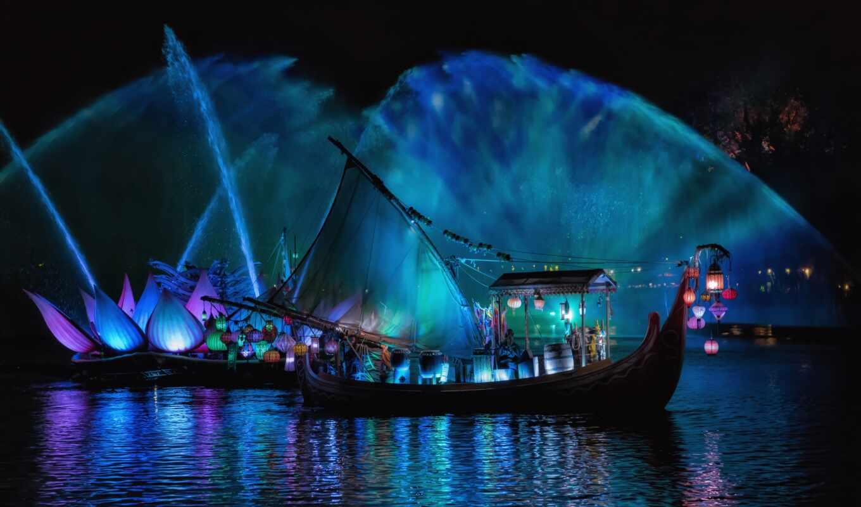 корабль, sail, море