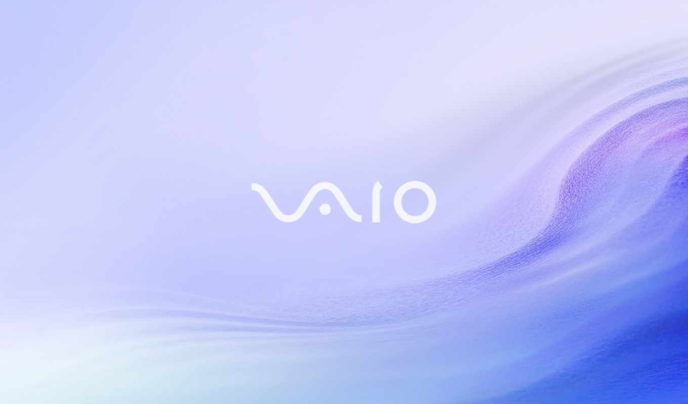 vaio, sony, notebook, logo, blue, purple, sand