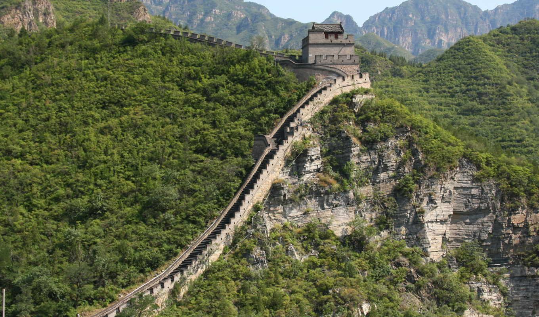 китайская, стена, великая, самых, февр, китая,