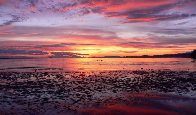 sunrise, рассвет, море, небо, free, desktop, sunset,