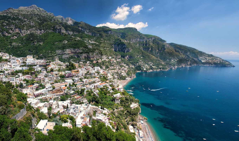 italy, море, amalfi, позитано,