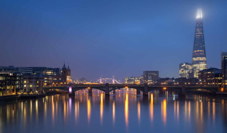 река, город, london, tourist, мост, ночь, огонь, великобритания, аттракцион
